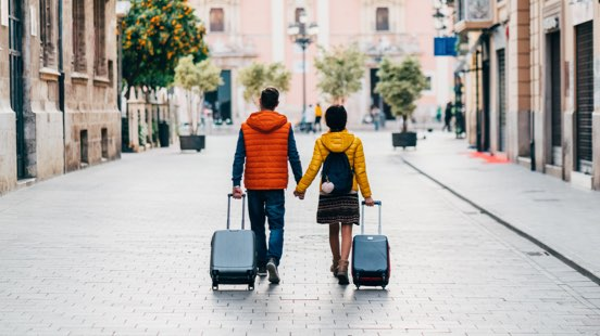 Image of people with luggage