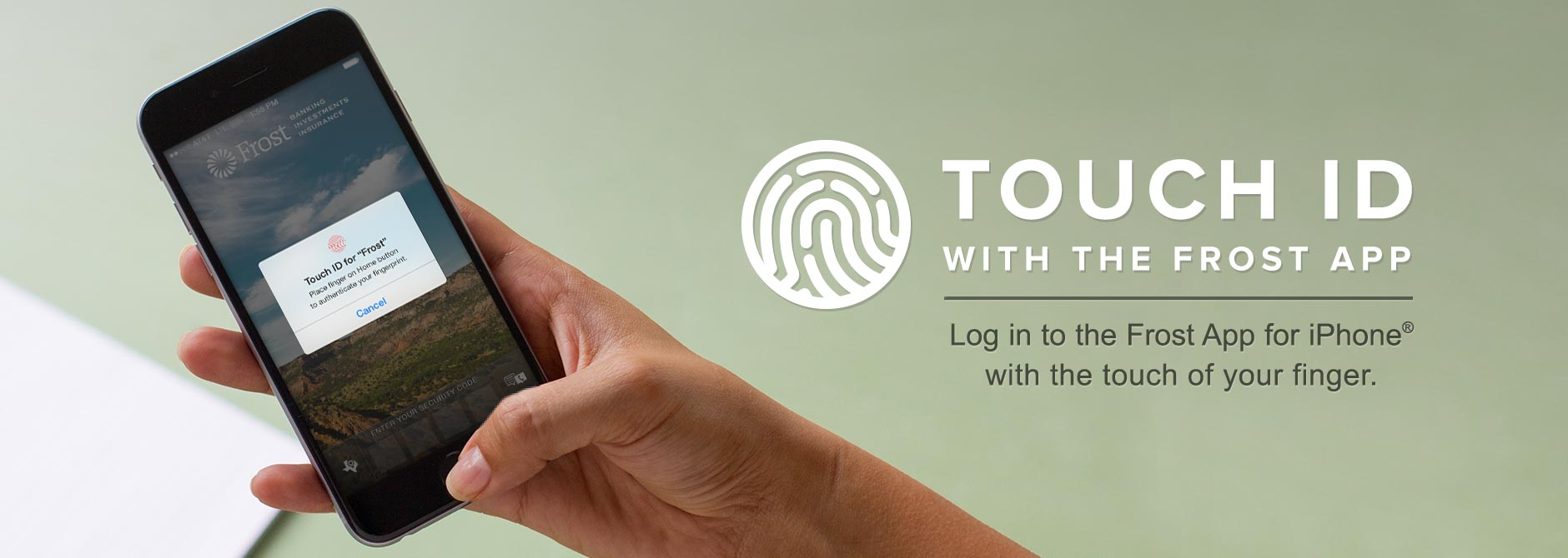 touch id with frost iphone® app | frost