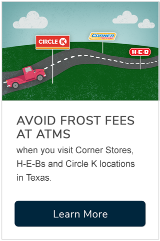 Avoid Frost Fees at ATMs